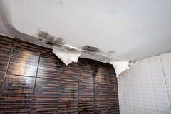 损坏的天花板 库存图片