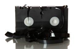 损坏的录相带 库存照片