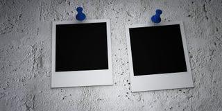 损坏的影片固定的偏正片墙壁 库存例证