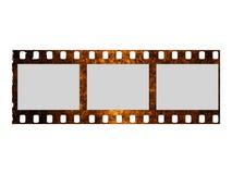 损坏的影片数据条 免版税库存图片