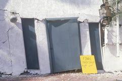 损坏的房子 库存图片