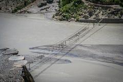 损坏的桥梁 图库摄影
