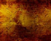 损坏的棕色金属片 向量例证