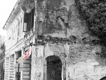 损坏的殖民地马来西亚房子 免版税图库摄影