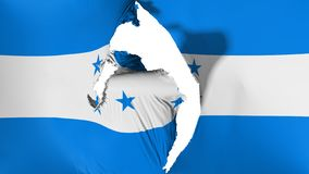 损坏的洪都拉斯旗子 皇族释放例证