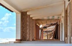 损坏的海滨别墅 西班牙 免版税图库摄影