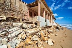 损坏的海滨别墅 西班牙 免版税库存图片