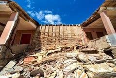 损坏的海滨别墅 西班牙 库存图片