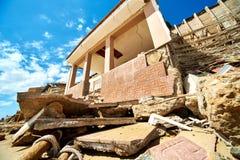 损坏的海滨别墅 西班牙 图库摄影