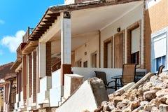损坏的海滨别墅 西班牙 免版税库存照片