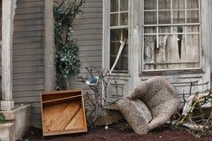 损坏的灾害房子 图库摄影