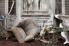 损坏的灾害房子 免版税库存图片