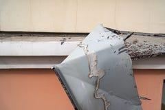 损坏的现代被撕毁的基石 库存图片