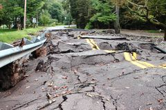 损坏的破坏洪水 库存照片
