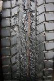 损坏的轮胎 库存图片
