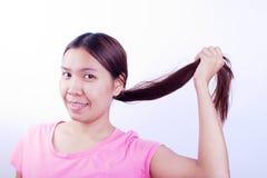 损坏的头发 免版税库存图片