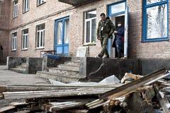 损坏的医院在Shchastya 库存图片