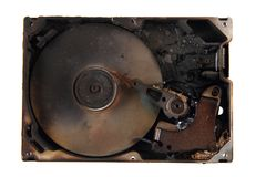损坏的harddrive (被删除的所有数据) 库存照片