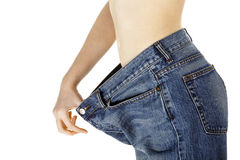 损失重量妇女 免版税库存图片