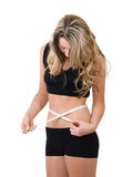 损失重量妇女 免版税图库摄影