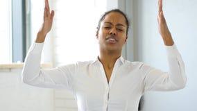 损失,反应对由美国黑人的妇女的失败在办公室 免版税库存照片