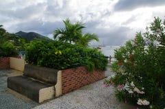换下场在列斯Anses d ` Arlet的中心2016年12月31日,马提尼克岛Isl的 免版税库存照片