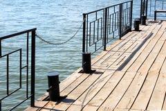 换下场在码头,小船驻地,美好的地方 图库摄影