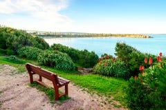 换下场有海视图在口岸艾略特,南澳大利亚 免版税库存图片