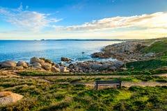 换下场有海视图在口岸艾略特,南澳大利亚 免版税库存照片