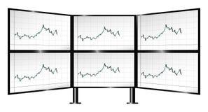 换与烛台图的多显示器 向量例证