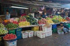 换在会安市上都市市场的果子  免版税库存图片