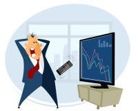 换在股票的经纪 向量例证