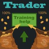 换在证券交易所协助和训练 向量例证