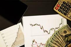 从换的收入在证券交易所 免版税图库摄影