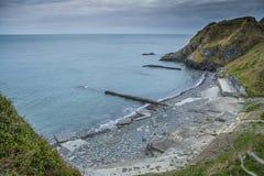 捣碎的Pebble海滩,爱尔兰 库存照片