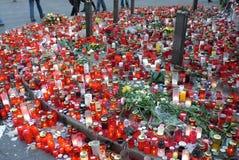 捷克中断的前havel总统vaclav 免版税库存照片