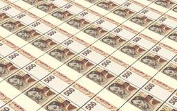 捷克克朗发单堆背景 免版税库存图片