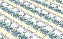 捷克克朗发单堆背景 免版税库存照片