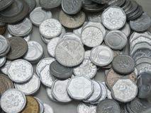 捷克克朗硬币 免版税图库摄影