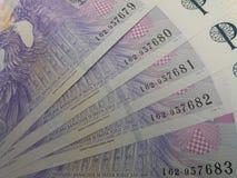 捷克克朗笔记,捷克 免版税库存照片
