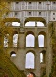 捷克克鲁姆洛夫城堡天秋天 库存图片