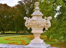 捷克克鲁姆洛夫城堡庭院秋天 库存图片