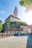 捷克克鲁姆洛夫早晨,波希米亚,捷克城堡  库存图片