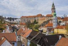 捷克克鲁姆洛夫的历史中心 免版税图库摄影