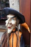 捷克克鲁姆洛夫, BOHEMIA/CZECH共和国- 9月17日:巫婆人 免版税库存图片