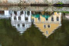 捷克克鲁姆洛夫, BOHEMIA/CZECH共和国- 9月17日:Reflectio 免版税库存照片