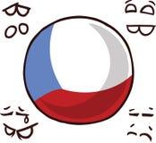 捷克共和国国家球 皇族释放例证