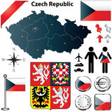捷克共和国映射 库存照片