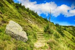 捷克共和国的Kozi hrbety- Krkonose国家公园 库存照片