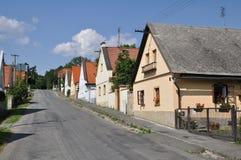 捷克共和国风景村庄 免版税库存照片